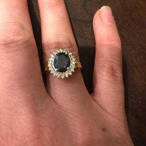 Beautiful Blue Sapphire/Diamond Ring!!